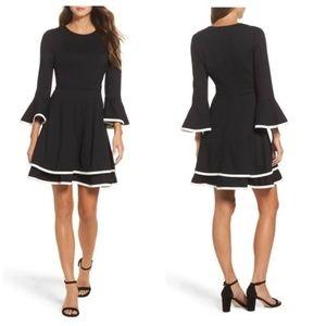 Eliza J Plus Size Bell Sleeve Fit & Flare